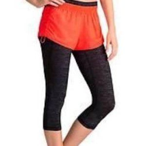 Athleta Go Getter 2 In 1 Knicker Capri Shorts